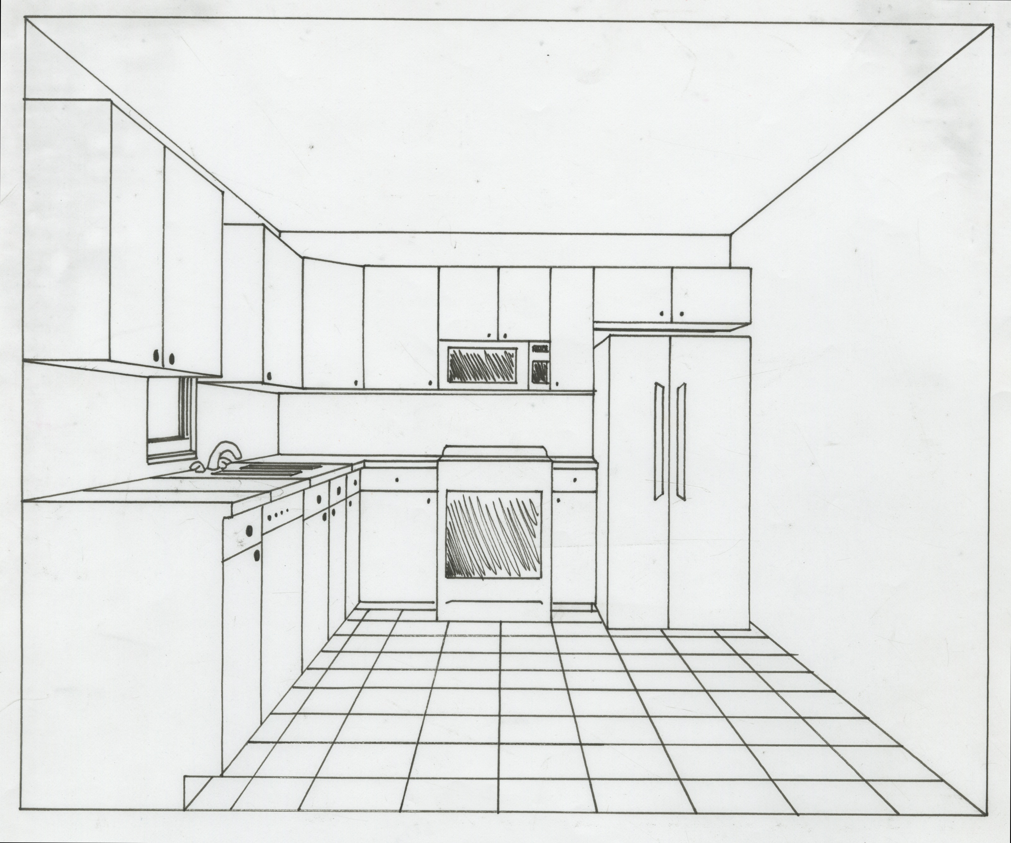 Kitchen perspective drawing - 1 Point Perspective Kitchen Jpeg 3258 2718 Kitchen Ideas Pinterest Perspective And Kitchens